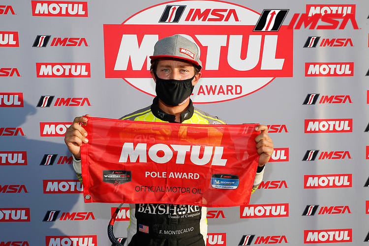 GTD Motul Pole award winner #12 AIM Vasser Sullivan Lexus RC-F GT3, GTD: Frankie Montecalvo
