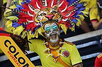 BARRANQUILLA - COLOMBIA - 14-10-2021: Hinchas de Colombia previo al partido entre Colombia (COL) y Ecuador (ECU) por la fecha 12 como parte de la clasificatoria a la Copa Mundo FIFA Catar 2022 jugado en el estadio Metropolitano Roberto Meléndez de la ciudad de Barranquilla. / Hichas de Colombia prior match between Colombia (COL) and Ecuador (ECU) for the date 12 as part of FIFA World Cup Qatar 2022 Qualifier played at Metropolitano Roberto Melendez stadium in Barranquilla city. Photo: VizzorImage / Jairo Cassiani / Cont