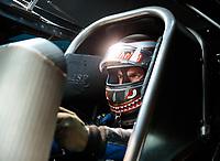 Aug 18, 2018; Brainerd, MN, USA; NHRA funny car driver Jonnie Lindberg during qualifying for the Lucas Oil Nationals at Brainerd International Raceway. Mandatory Credit: Mark J. Rebilas-USA TODAY Sports