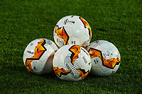 12th March 2020, TGW Arena, Pasching, Austria; UEFA Europa League football,  LASK versus Manchester United;  The game balls during the UEFA Europa League round of last 16 match
