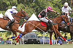 WELLINGTON, FL - APRIL 25:  Adolfo Cambiaso of Valiente (white jersey) and Polito Pieres of Orchard Hill battle for the ball, as Valiente defeats Orchard Hill 13-12, in OT,  in the US Open Polo Championship Final, to win the U. S. Polo Triple Crown, at the International Polo Club Palm Beach, on April 25, 2017 in Wellington, Florida. (Photo by Liz Lamont/Eclipse Sportswire/Getty Images)
