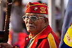 A Navajo Code Talker is the honored guest and leads the Grand Entry.