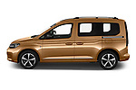 Car Driver side profile view of a 2021 Volkswagen Caddy Style 5 Door Mini MPV Side View