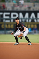 Birmingham Barons second baseman Trey Michalczewski (27) during a game against the Tennessee Smokies on August 16, 2018 at Regions FIeld in Birmingham, Alabama.  Tennessee defeated Birmingham 11-1.  (Mike Janes/Four Seam Images)