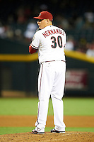 Arizona Diamondbacks relief pitcher David Hernandez #30 during a National League regular season game against the Colorado Rockies at Chase Field on October 3, 2012 in Phoenix, Arizona. Arizona defeated Colorado 5-3. (Mike Janes/Four Seam Images)
