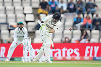 Tom Latham gets an outside edge which drops safely during India vs New Zealand, ICC World Test Championship Final Cricket at The Hampshire Bowl on 20th June 2021