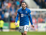 St Johnstone v Rangers…22.09.19   McDiarmid Park   SPFL<br />Drey Wright has words with the assitant referee who didn't give Murray Davidson's goal<br />Picture by Graeme Hart.<br />Copyright Perthshire Picture Agency<br />Tel: 01738 623350  Mobile: 07990 594431