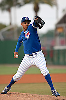 April 21 2010: Chris Archer (24) of the Daytona Beach Cubs during a game vs. the Tampa Yankees at Jackie Robinson Ballpark in Daytona Beach, Florida. Daytona, the Florida State League High-A affiliate of the Chicago Cubs, lost the game against Tampa, affiliate of the New York Yankees, by the score of 4-1.  Photo By Scott Jontes/Four Seam Images