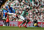 31.03.2019 Celtic v Rangers: Ryan Kent and Dedryck Boyata