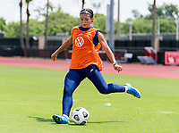 HOUSTON, TX - JUNE 12: Sophia Smith #2 of the USWNT crosses the ball during a training session at University of Houston on June 12, 2021 in Houston, Texas.