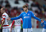 Hamilton Academical St Johnstone....04.04.15<br /> Murray Davidson appeals for a foul<br /> Picture by Graeme Hart.<br /> Copyright Perthshire Picture Agency<br /> Tel: 01738 623350  Mobile: 07990 594431
