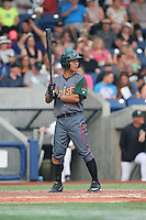 Jensen Park (12) of the Boise Hawks bats during a game against the Hillsboro Hops at Ron Tonkin Field on August 22, 2015 in Hillsboro, Oregon. Boise defeated Hillsboro, 6-4. (Larry Goren/Four Seam Images)