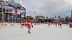 31 December 2013: Former Detroit Red Wings forward Mickey Redmond (20) skates during warmups before the Toronto Maple Leafs v Detroit Red Wings Alumni Showdown hockey game, at Comerica Park, in Detroit, MI.
