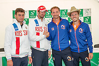 Moscow, Russia, 14 th July, 2016, Tennis,  Davis Cup Russia-Netherlands, The draw, Doubles teams on saturday :  <br /> Photo: Henk Koster/tennisimages.com