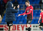 St Johnstone v Kilmarnock…02.12.17…  McDiarmid Park…  SPFL<br />Stuart Findlay celebrates at full time with Eamonn Brophy<br />Picture by Graeme Hart. <br />Copyright Perthshire Picture Agency<br />Tel: 01738 623350  Mobile: 07990 594431