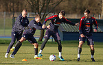 Fast footwork from Kenny Miller, Lee Hodson, Rob Kiernan and Lee Wallace