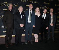 """October 12, 2021.Alan Ruck, Brian Cox, Jesse Armstrong, Sarah Snook, Kieran Culkin, Jeremy Strong attend HBO's """"Succession"""" Season 3 Premiere at the  American Museum of Natural History in New York October 12, 2021 Credit: RW/MediaPunch"""