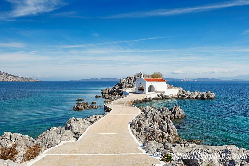 The small church Agios Isidoros in Chios island, Greece