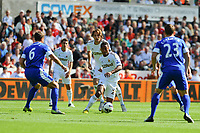 Saturday 22 September 2012 <br /> Pictured: Jonathan d Guzman and Michu<br /> Barclays Premiership, Swansea City v Everton at the Liberty Stadium, south Wales.