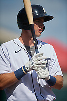 Detroit Tigers Gage Workman (27) on deck during a Florida Instructional League intrasquad game on October 24, 2020 at Joker Marchant Stadium in Lakeland, Florida.  (Mike Janes/Four Seam Images)