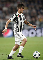 Football Soccer: UEFA Champions League Juventus vs Olympiacos Allianz Stadium. Turin, Italy, September 27, 2017. <br /> Juventus' Paulo Dybala in action during the Uefa Champions League football soccer match between Juventus and Olympiacos at Allianz Stadium in Turin, September 27, 2017.<br /> UPDATE IMAGES PRESS/Isabella Bonotto