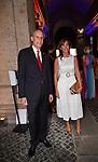L'AMBASCIATORE CHRISTIAN MASSET CON MARIA ELENA BOSCHI<br /> RICEVIMENTO 14 LUGLIO 2021 AMBASCIATA DI FRANCIA<br /> PALAZZO FARNESE ROMA