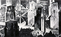 """H.,W. Corbett:  """"Proposed Separation of Towers""""--1928.  Koolhaas, p. 139."""