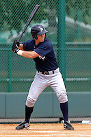 Tyler Austin (51) Catcher for the GCL Yankees during a game on July 13th, 2010 against the GCL Braves at the Disney Wide World of Sports in Orlando, Florida. The GCL Yankees are the Gulf Coast Rookie League affiliate of the New York Yankees. Austin was selected by the Yankees in th 13th Round (415 overall)of the 2010 MLB First Year Player Draft. Photo By Mark LoMoglio/Four Seam Images