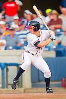 Todd Cunningham #2 of the Rome Braves at bat against the Greenville Drive at State Mutual Stadium July 24, 2010, in Rome, Georgia.  Photo by Brian Westerholt / Four Seam Images