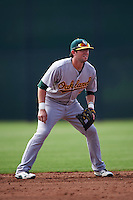 Oakland Athletics Mikey White (7) during an instructional league game against the San Francisco Giants on October 12, 2015 at the Giants Baseball Complex in Scottsdale, Arizona.  (Mike Janes/Four Seam Images)