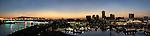 Panorama of the Long Beach skyline at twilight, Long Beach, CA