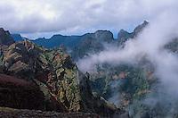 Portugal, Madeira, Blick vom Pico de Arieiro