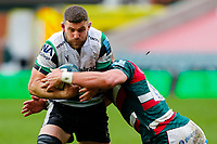 28th March 2021; Mattoli Woods Welford Road Stadium, Leicester, Midlands, England; Premiership Rugby, Leicester Tigers versus Newcastle Falcons; Mark Wilson of Newcastle Falcons charges into the Leicester Tigers defence
