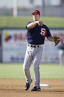 Jake Gautreau of the Lake Elsinore Storm before a California League 2002 season game against the San Bernardino Stampede at San Manuel Stadium, in San Bernardino, California. (Larry Goren/Four Seam Images)