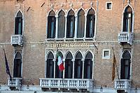 La facciata del Gritti Palace Hotel a Venezia.<br /> The facade of the Gritti Palace hotel, in Venice, Northern Italy.<br /> UPDATE IMAGES PRESS/Riccardo De Luca