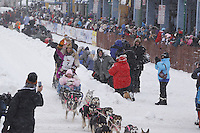 DeeDee Jonrowe March 3, 2012 Ceremonial Start of Iditarod 2012 in Anchorage, Alaska.