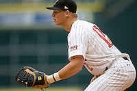 Texas Tech Red Raider 1B Jake Wood against TCU on Friday March 5th, 2100 at the Astros College Classic in Houston's Minute Maid Park.  (Photo by Andrew Woolley / Four Seam Images)