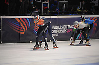 SPEEDSKATING: DORDRECHT: 06-03-2021, ISU World Short Track Speedskating Championships, SF 5000m Men, Itzhak de Laat (NED), ©photo Martin de Jong
