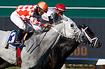 July 29, 2012 Tune Me In (#3), Paco Lopez up, wins the grade III Oceanport Stakes at Monmouth Park Racetrack, Oceanport, NJ. @Joan Fairman Kanes/Eclipse Sportswire