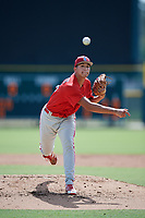 Philadelphia Phillies pitcher Francisco Morales (29) delivers a pitch during a Florida Instructional League game against the Baltimore Orioles on October 4, 2018 at Ed Smith Stadium in Sarasota, Florida.  (Mike Janes/Four Seam Images)