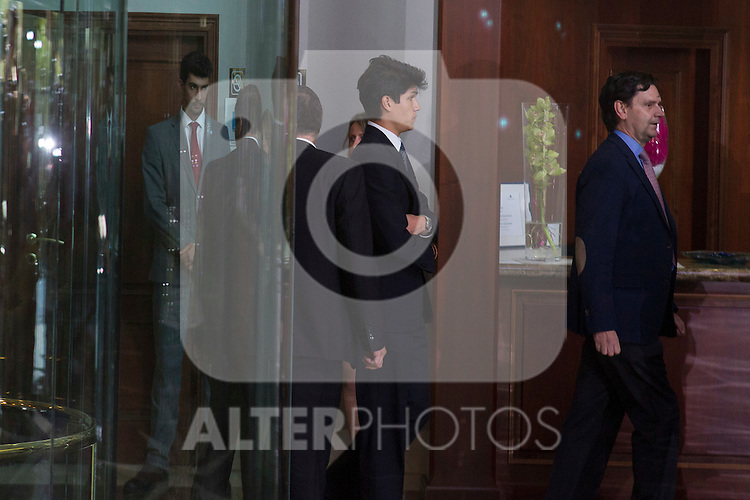 Miguel Boyer´s sons visit San Isidro funeral home following the death of Miguel Boyer in Madrid, Spain. September 29, 2014. (ALTERPHOTOS/Victor Blanco)