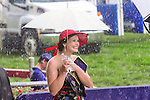 Torential rain fell, but failed to dampen spirits at Queen's Plate  at Woodbine Raceway in Toronto, Canada on July 07, 2013.