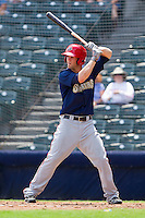 Bryce Harper #34 of the Harrisburg Senators at bat against the Richmond Flying Squirrels at The Diamond on July 22, 2011 in Richmond, Virginia.  The Squirrels defeated the Senators 5-1.   (Brian Westerholt / Four Seam Images)
