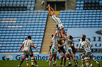 6th February 2021; Ricoh Arena, Coventry, West Midlands, England; English Premiership Rugby, Wasps versus Northampton Saints; Nick Isiekwe of Northampton Saints cannot reach the ball in the lineout