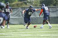 Virginia tackle Will Barker during open spring practice for the Virginia Cavaliers football team August 7, 2009 at the University of Virginia in Charlottesville, VA. Photo/Andrew Shurtleff