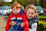 Ben O'Sullivan and Lucy O'Connor enjoying the playground in the Listowel town park on Saturday.