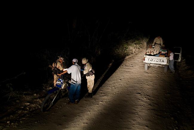 DIPRONA special unit on patrol inside the Mayan Biosphere.