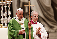 Pope Francis celebrates a Mass for the World Mission Day in St. Peter's Basilica at the Vatican, October 20, 2019.<br /> UPDATE IMAGES PRESS/Riccardo De Luca<br /> <br /> STRICTLY ONLY FOR EDITORIAL USE