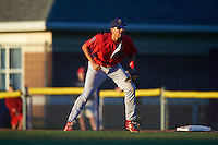 Williamsport Crosscutters first baseman Darick Hall (46) during a game against the Batavia Muckdogs on September 1, 2016 at Dwyer Stadium in Batavia, New York.  Williamsport defeated Batavia 10-3. (Mike Janes/Four Seam Images)