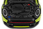 Car Stock 2022 MINI Cooper-Convertible John-Cooper-Works-Signature 2 Door Convertible Engine  high angle detail view
